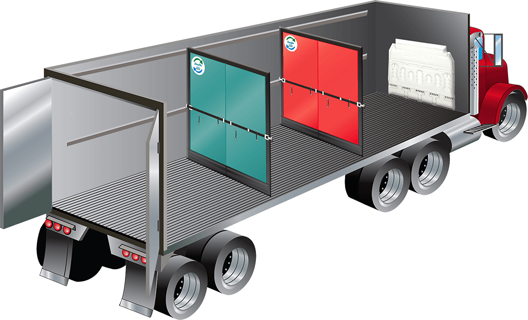 schematic 53 ft trailer 14 ft trailer